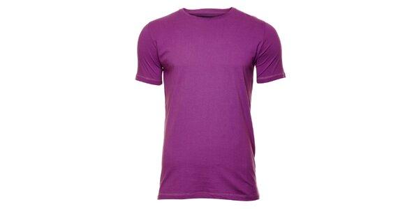 Pánské fialkové tričko Timeout