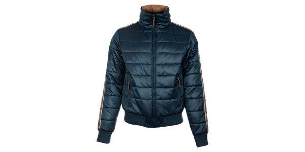 Pánská tyrkysově modrá prošívaná zimní bunda Timeout