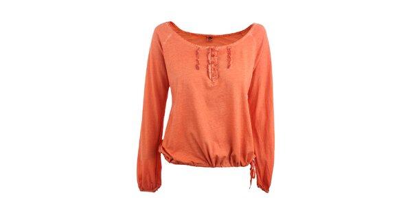 Dámské pomerančové tričko s fiží Timeout