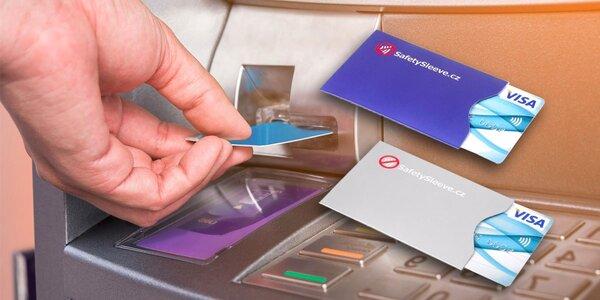 Bezpečnostní pouzdra na platební karty: 2 barvy