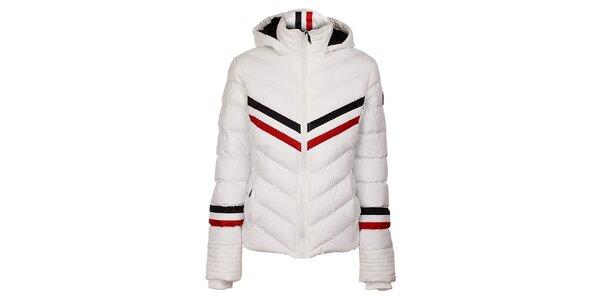 Dámská bílá prošívaná bunda Trimm Bella s barevnými proužky