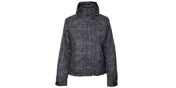 Dámská šedo-černá lyžařská bunda Trimm s potiskem