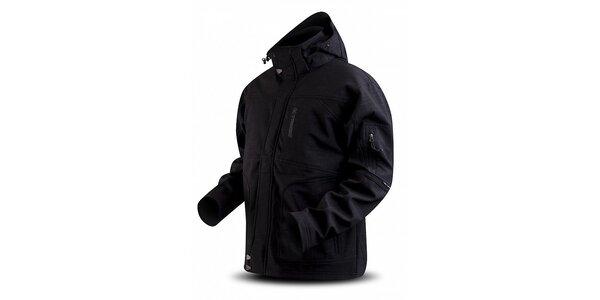 Dámská černá softshellová bunda Trimm s potiskem