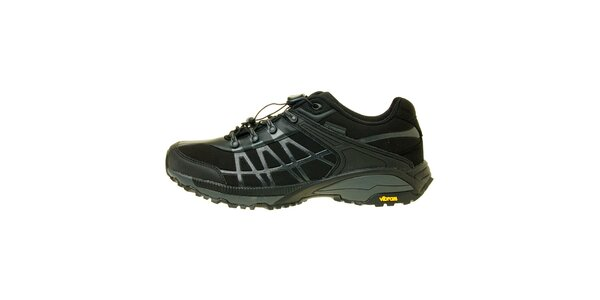 Pánské černé trekové boty s modrým detailem Trimm