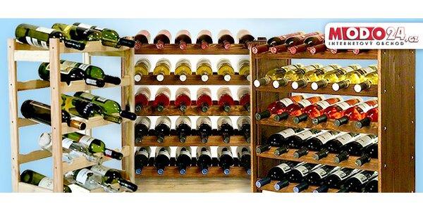 Regály na víno z borovicového dřeva
