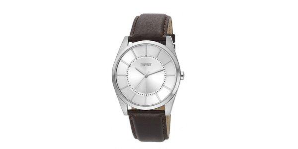 Pánské stříbrné analogové hodinky Esprit se stříbrným ciferníkem