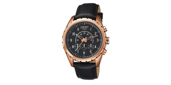 Pánské pozlacené analogové hodinky Esprit