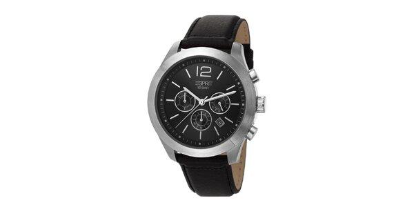 Pánské hodinky s chronografem a černým ciferníkem Esprit