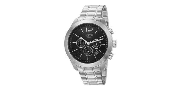 Pánské stříbrně tónované hodinky s chronografem Esprit