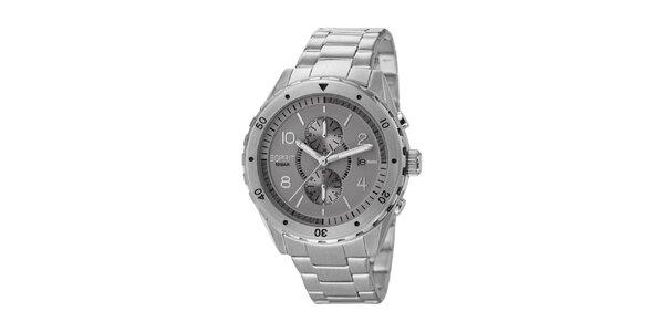 Pánské stříbrně tónované analogové hodinky z nerez oceli Esprit