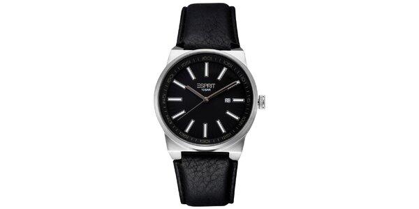 Pánské ocelové hodinky s černým ciferníkem Esprit