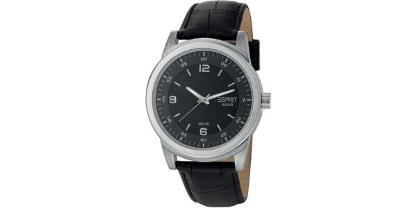 Pánské ocelové hodinky s koženým řemínkem Esprit