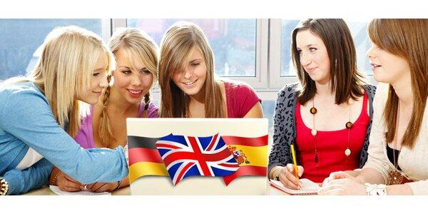 půlroční kurz angličtiny, němčiny nebo španělštiny