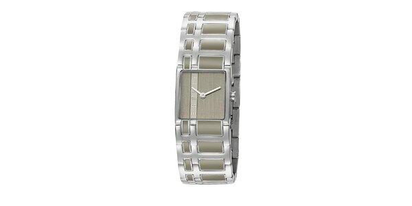 Dámské stříbrné hodinky Esprit s šedým vykládáním