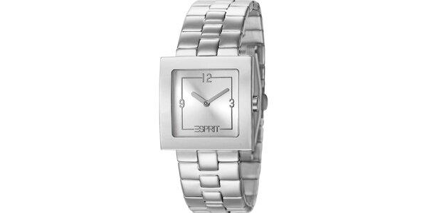 Dámské hodinky Esprit s hranatým ciferníkem ve stříbrné barvě