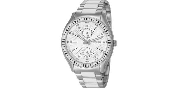 Dámské stříbrné hodinky s minutovým ciferníkem Esprit
