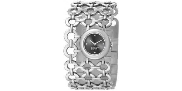 Dámské stříbrné hodinky Esprit s kroužkovým náramkem