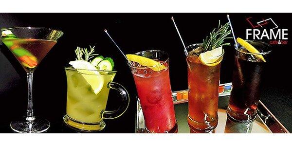 Otevřený voucher na všechny drinky ve Frame cafe&baru