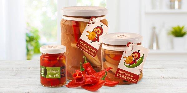 Nakládané chilli pochoutky: papričky i utopence