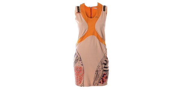 Dámské růžovo-oranžové šaty bez rukávů Angels Never Die