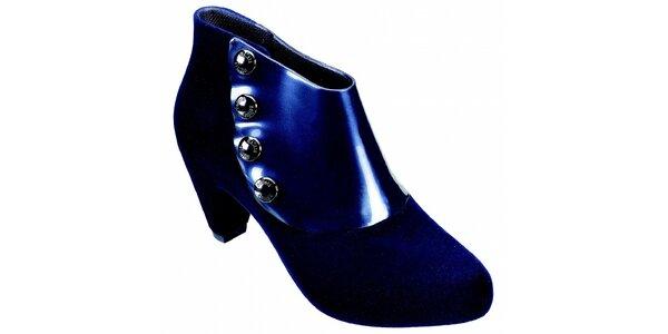 Dámské temně modré kotníčkové boty Melissa s kovovými cvoky