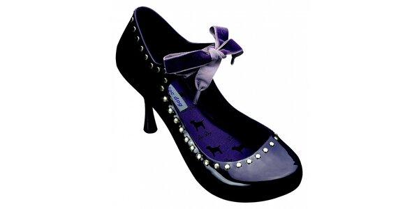 Dámské tmavě fialové lodičky Melissa s kovovými cvoky