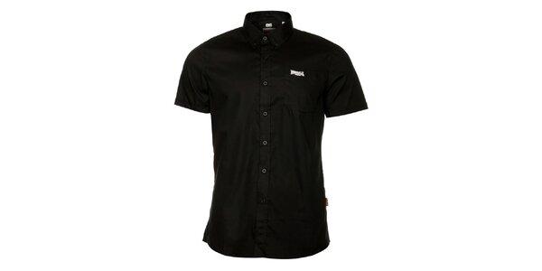 Pánská černá košile s krátkým rukávem Lonsdale