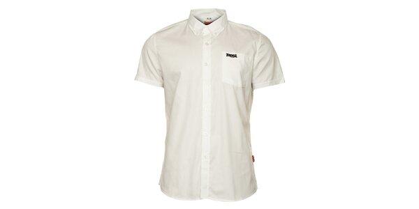 Pánská bílá košile s krátkým rukávem Lonsdale