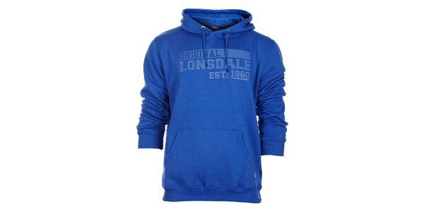 Pánská modrá mikina Lonsdale s gumovým potiskem