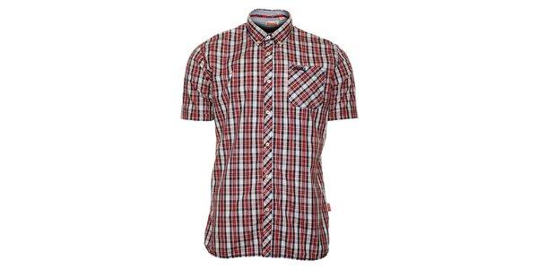 Pánská modro-červená kostkovaná košile Lonsdale