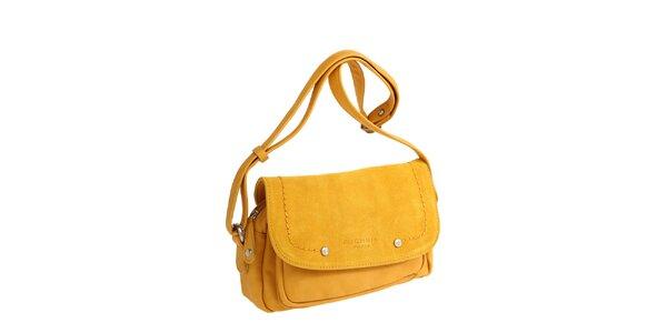Dámská žlutá kabelka přes rameno Fuchsia