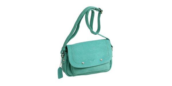 Dámská zelená kabelka přes rameno s visačkou Fuchsia