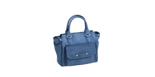 Dámská modrá kabelka s boční kapsičkou Fuchsia