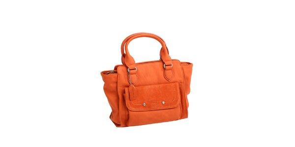 Dámská oranžová kabelka s boční kapsičkou Fuchsia