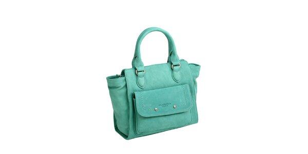Dámská zelená kabelka s boční kapsičkou Fuchsia