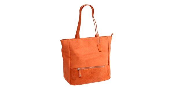 Dámská oranžová kabelka se dvěma uchy Fuchsia