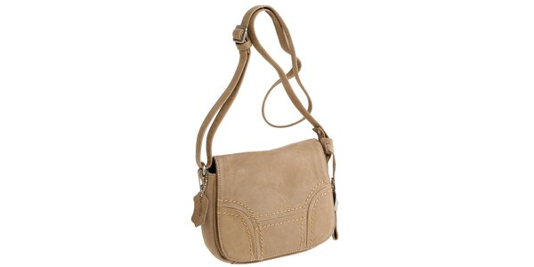 Dámská béžová kabelka přes rameno Fuchsia