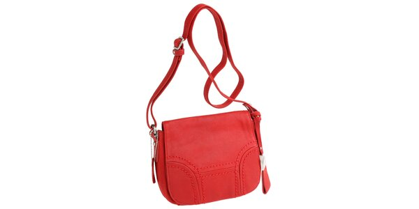 Dámská červená kabelka přes rameno Fuchsia