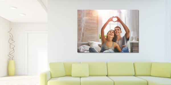 Fotoobraz z vlastní fotografie na plátně, vč. rámu