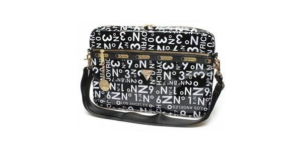 Taška na laptop s motivem čísel a písmen