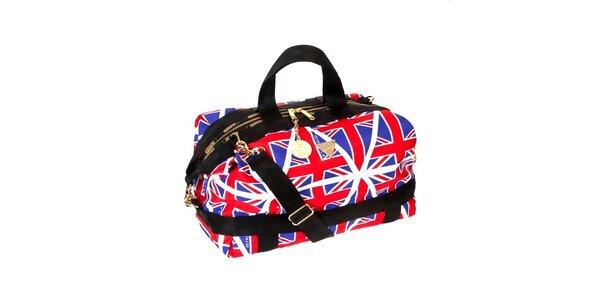 Modro - červená kabelka s motivem anglické vlajky