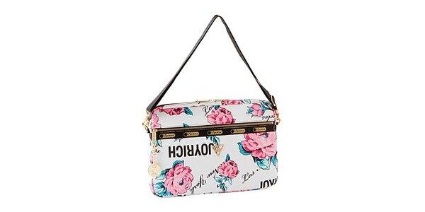 Taška na laptop s motivem velkých růží