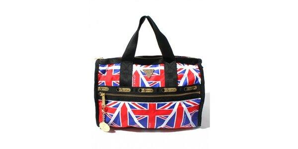 Malá cestovní taška s motivem anglické vlajky