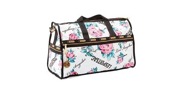 Malá cestovní taška s motivem růží