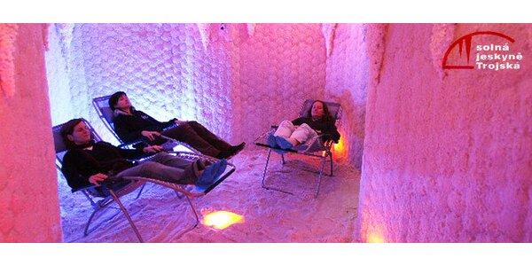 Vstupné do solné jeskyně Trojská