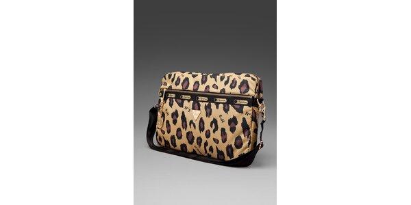 Taška na laptop s leopardím motivem