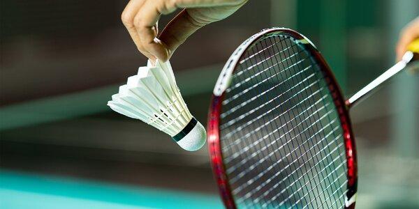 Hodina badmintonu pro dva hráče ve všední dny