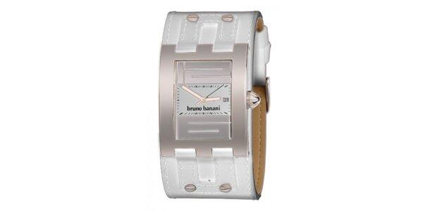 Dámské bílé náramkové hodinky s cvočky Bruno Banani
