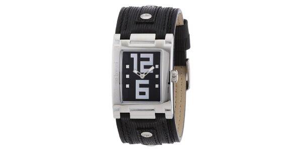 Dámské stříbrné hodinky s černým ciferníkem Bruno Banani