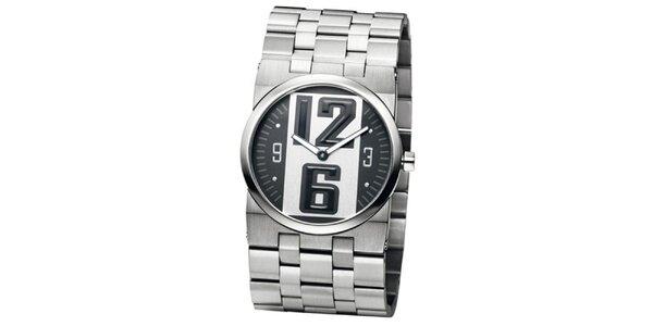 Pánské ocelově šedé hodinky Bruno Banani